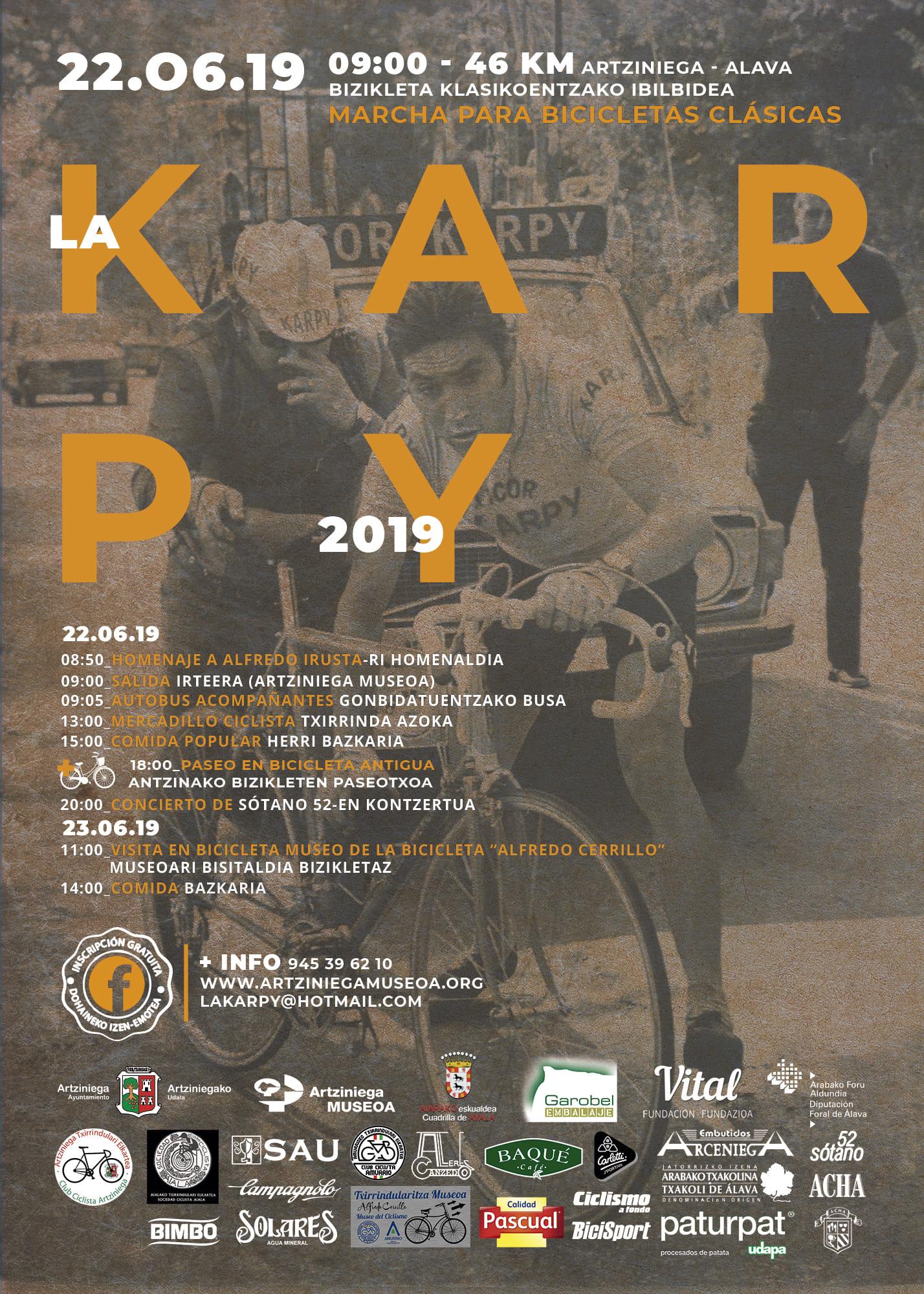 III Martxa Ciclista Clásica-LA KARPY-III Txirrindula Klasikoentzako Ibilaldia IZEN EMATEA ITXITA!! CERRADA LA INSCRIPCIÓN!!